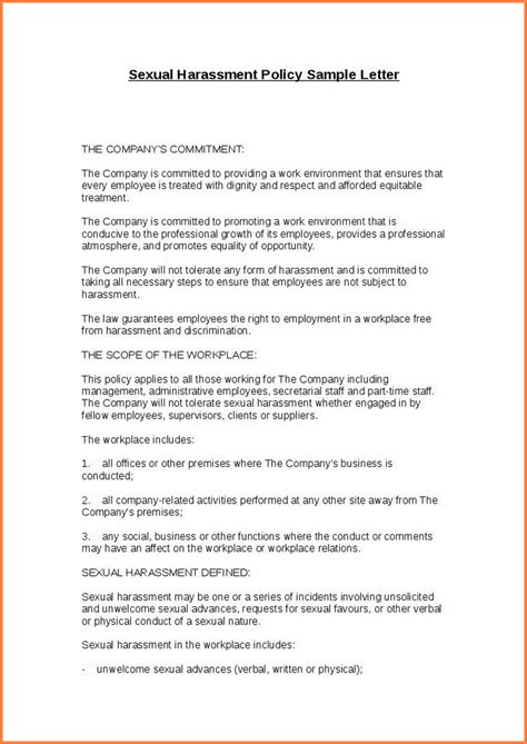 12 sle workplace harassment complaint letter