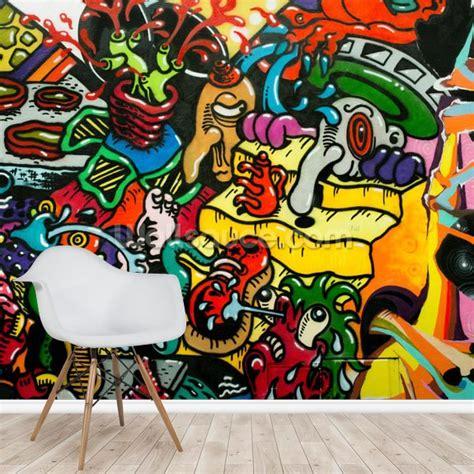 graffiti art wallpaper mural wallsauce nz