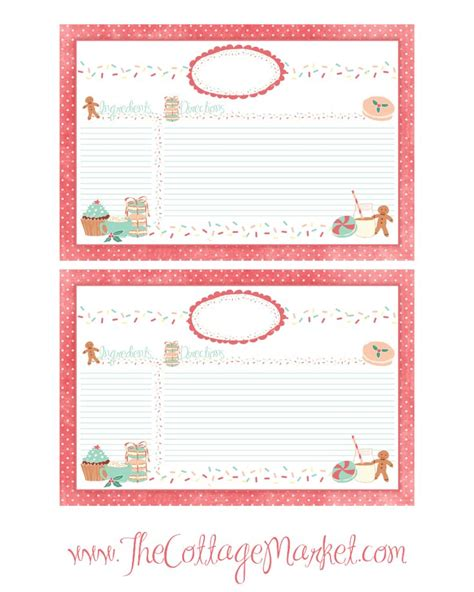 printable recipe cards pinterest thecottagemarket cottagechristmastags 121212 png photo by