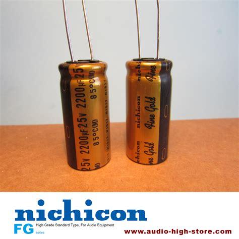 nichicon fg 2200uf 25v gold audio grade capacitor