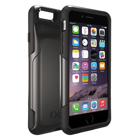 otterbox commuter wallet iphone 6 6s retail packaging neon whisper
