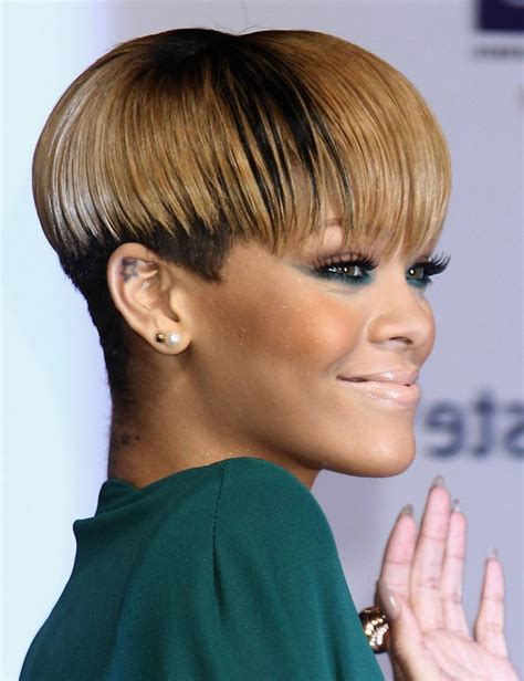 african american razor cut bob cute short razor cut hairstyles for older women stock