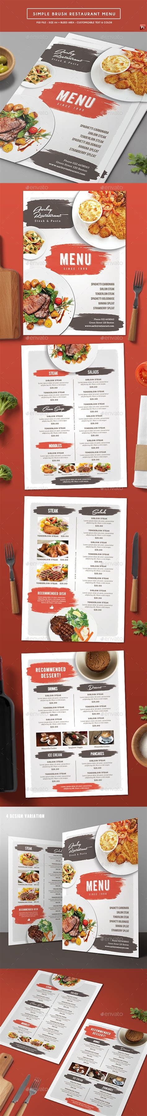 top 15 free restaurant menu psd templates for cuisine business of