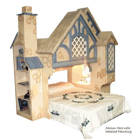 Themed Bunk Beds Snow White Cottage Themed Bunk Bed