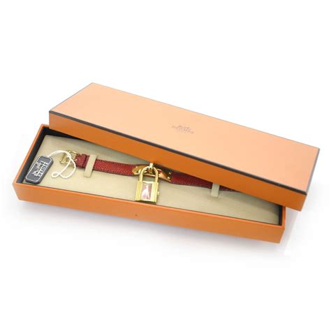 hermes cadena watch hermes lizard kelly cadena watch red 30241