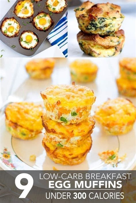 carb breakfast egg muffins   calories