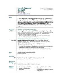 Resume Format For Nurses by Registered Resume