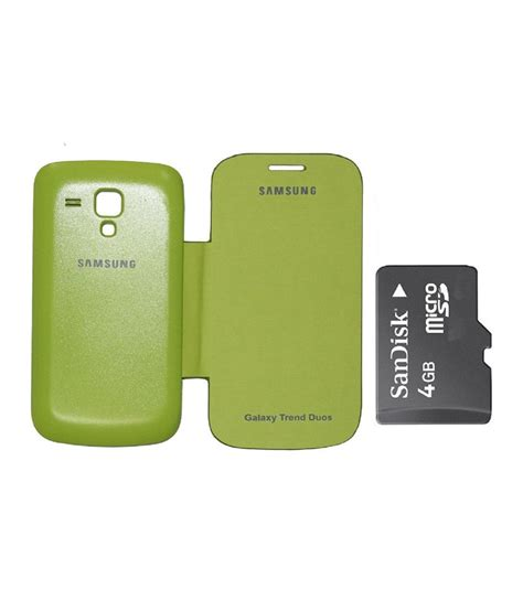 Memory Card 4gb Samsung edge flip cover 4gb sandisk memory card for samsung galaxy s duos s7562 green