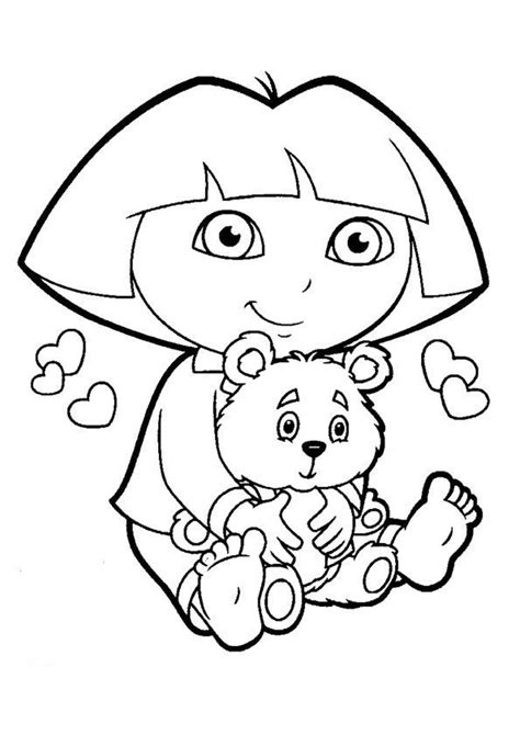 kelly bear coloring pages 19 best images about dora the explorer coloring pages on