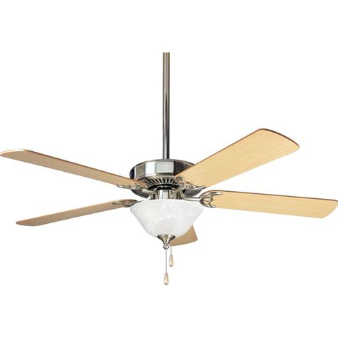 Progress Lighting Ceiling Fans Progress Lighting Airpro Builder 52 In Brushed Nickel Ceiling Fan P2522 09 The Home Depot