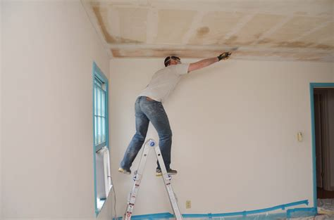 Update Popcorn Ceiling by 100 Scrape Popcorn Ceiling Without Water How To Repair A Water Stain On A Popcorn Ceiling