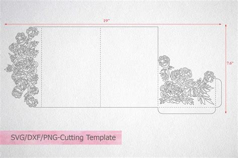 tri fold card cricut template tri fold wedding invitation svg cricu design bundles