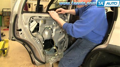 How To Fix Broken Glass how to install replace broken rear quarter glass toyota 4
