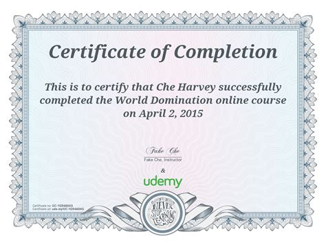 best certificate courses certificate of completion udemy