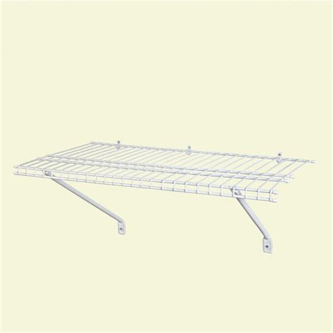 Ventilated Wire Shelf Kit Closetmaid 3 Ft X 12 In Ventilated Wire Shelf Kit 1031