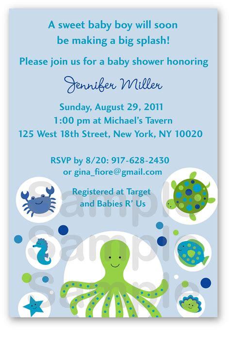 sea creature baby shower invitations 25 best ideas about custom baby shower invitations on
