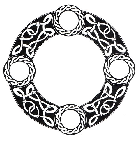 celtic circle tattoo designs celtic circle vector clipart best
