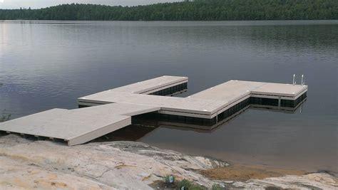 floating dock sections steel pile permanent docks r j machine