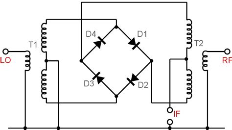 diode single balanced mixer uses schottky diode schottky barrier diode electronics notes