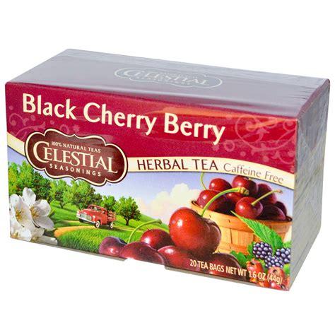 Celestial Seasonings, Herbal Tea, Black Cherry Berry, Caffeine Free, 20 Tea Bags, 1.6 oz (44 g