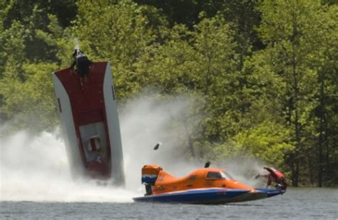 boat crash hamlin pictured the dramatic moment a racing ace flips his boat