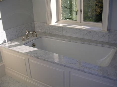 bathtub deck carrera marble bathroom carrara marble bathroom tile