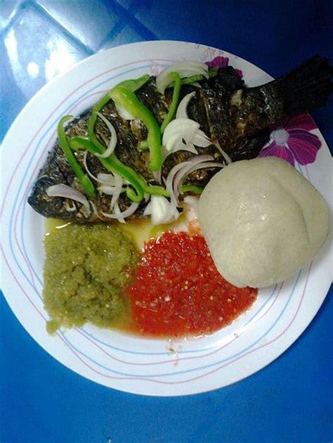 bank u banku and tilapia with peppers stew ethnic foods r us