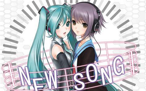 hatsune miku anime girl with headphones anime anime girls hatsune miku headphones music vocal
