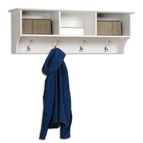 entryway rack prepac white entryway shelf with coat rack wec 4816