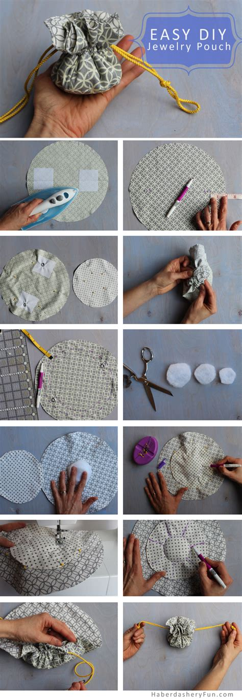how to make a jewelry pouch drawstring diy make a drawstring jewelry pouch haberdashery