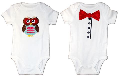 Bow Windows baby onesies with fabric appliques pazzles craft room