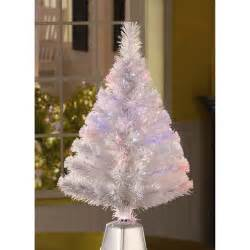 holiday time pre lit 2 5 fiber optic white artificial