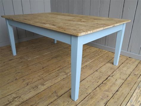 tongue and groove table top reclaimed pine farmhouse scrub top table