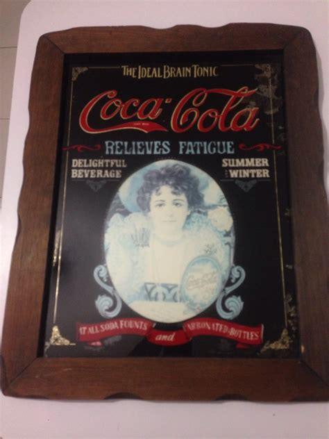 cuadro coca cola espejo cuadro antiguo coca cola 47 x 38 cm vintage