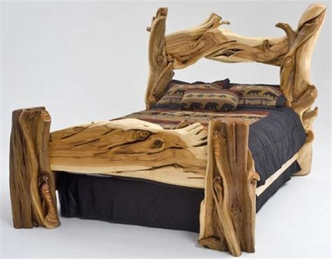 rustic log beds log beds rustic bedroom furniture barnwood bed