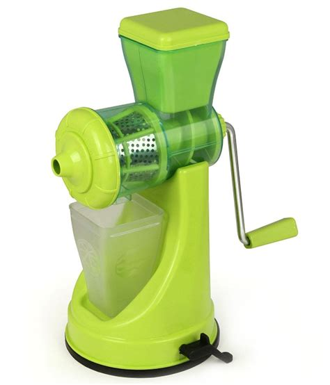 Juicer 7 In 1 floraware fruit and vegetable green colour juicer with steel handle buy at best price