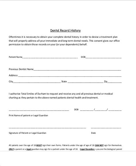11 Sle Dental Release Forms Sle Templates Dental Office Forms Templates