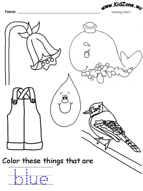blue coloring pages for toddlers colors recognition practice worksheet abc easy as 123
