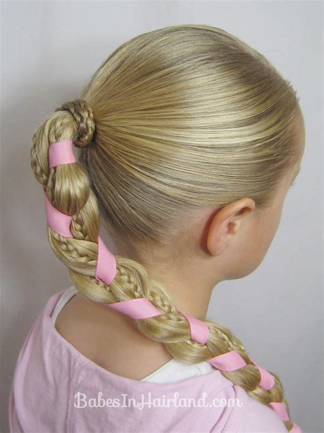 braids and ribbon hairstyle in hairland - Ribbon Hairstyles