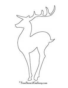 reindeer silhouette template reindeer stencil template images