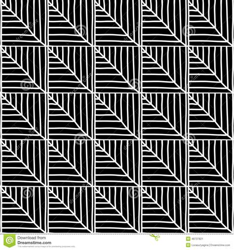 african pattern black and white monochrome african ornamental pattern stock vector
