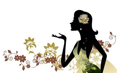 wallpaper vector girl vector girls illustrated wallpapers