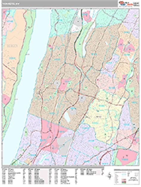 zip code map yonkers ny yonkers new york zip code wall map premium style by