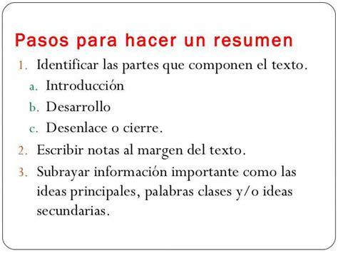 Resumen Y Sus Caracteristicas by Partes Resumen