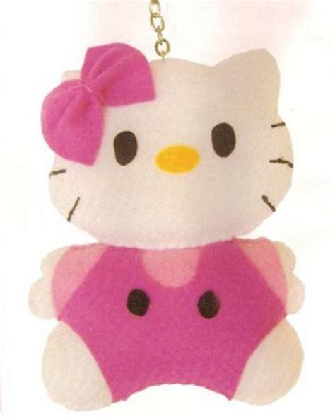 cara membuat gantungan kunci hello kity boneka hello kitty dari kain flanel