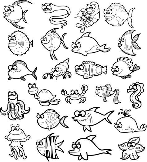 animales del mar gran delf n vinilo gran conjunto de animales de dibujos animados del