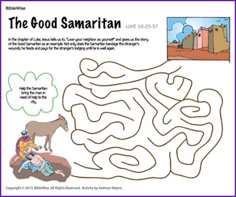 sunday school coloring pages good samaritan the good samaritan maze kids korner biblewise sunday