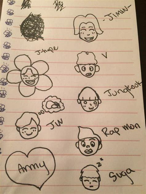 doodle bts bts doodles k pop amino