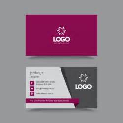 stylish professional business card vector free