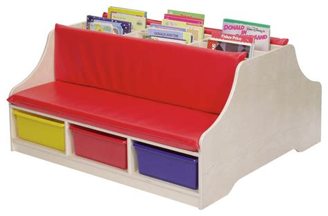 kids reading bench steffywood double sided kids reading book storage bench